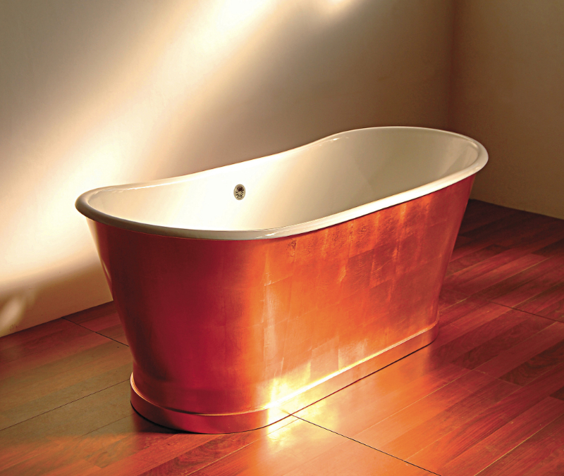 Elevate Your Master Bedroom – Luxury Bathtubs That Will Steal The Show luxury bathtub Elevate Your Master Bedroom – Luxury Bathtubs That Will Steal The Show sunrise copper finish piedmont 1