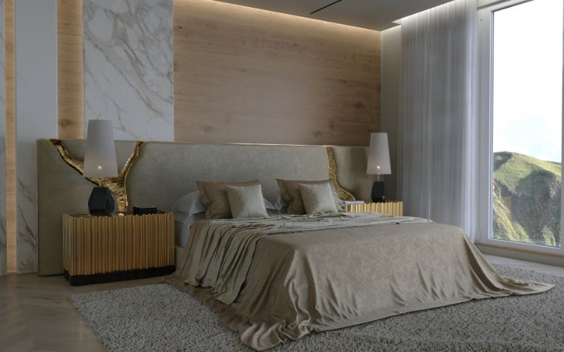 bedroom design 10 Most Classic and Glorious  Bedroom Design Made In Portugal a luxury headboard 1
