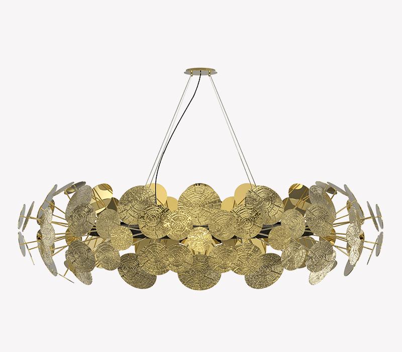 modern lighting 10 Gold Modern Lighting For Your Bedroom – Spark Your Inspiration! newton chandelier 01 boca do lobo