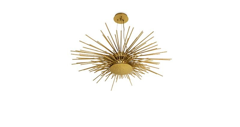 modern lighting 10 Gold Modern Lighting For Your Bedroom – Spark Your Inspiration! soleil suspension lamp 1 1
