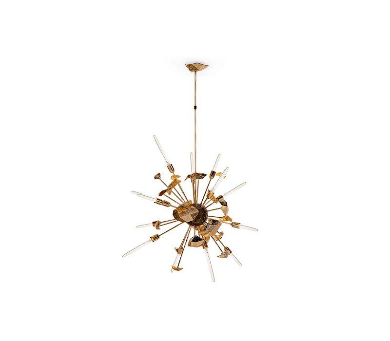 modern lighting 10 Gold Modern Lighting For Your Bedroom – Spark Your Inspiration! supernova chandelier 01 boca do lobo