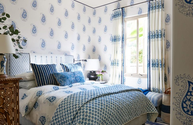 Mark D. Sikes Luxury Blue Bedroom Inspirations