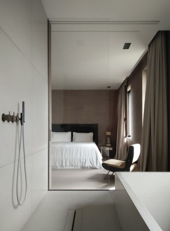 Vincent Van Duysen Minimalist Bedroom vincent van duysen Vincent Van Duysen Minimalist Bedroom VVDA VR Apartment Frederik Vercruysse 4 1