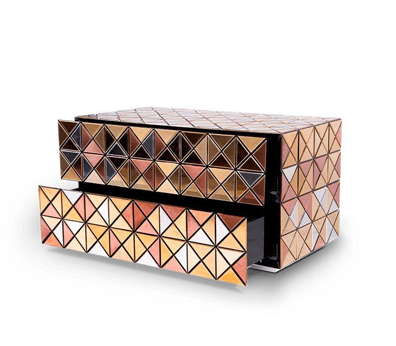 luxury nightstand Luxury Nightstand By Boca Do Lobo To Elevate Your Bedroom Design pixel nightstand 03 boca do lobo