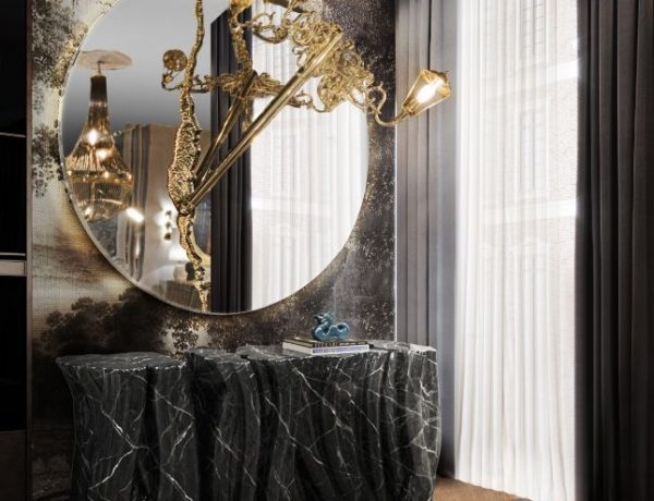 luxury mirrors Luxury Mirrors That Will Make Your Master Bedroom Bigger bl handmade monochrome sideboard 1 1 600x460