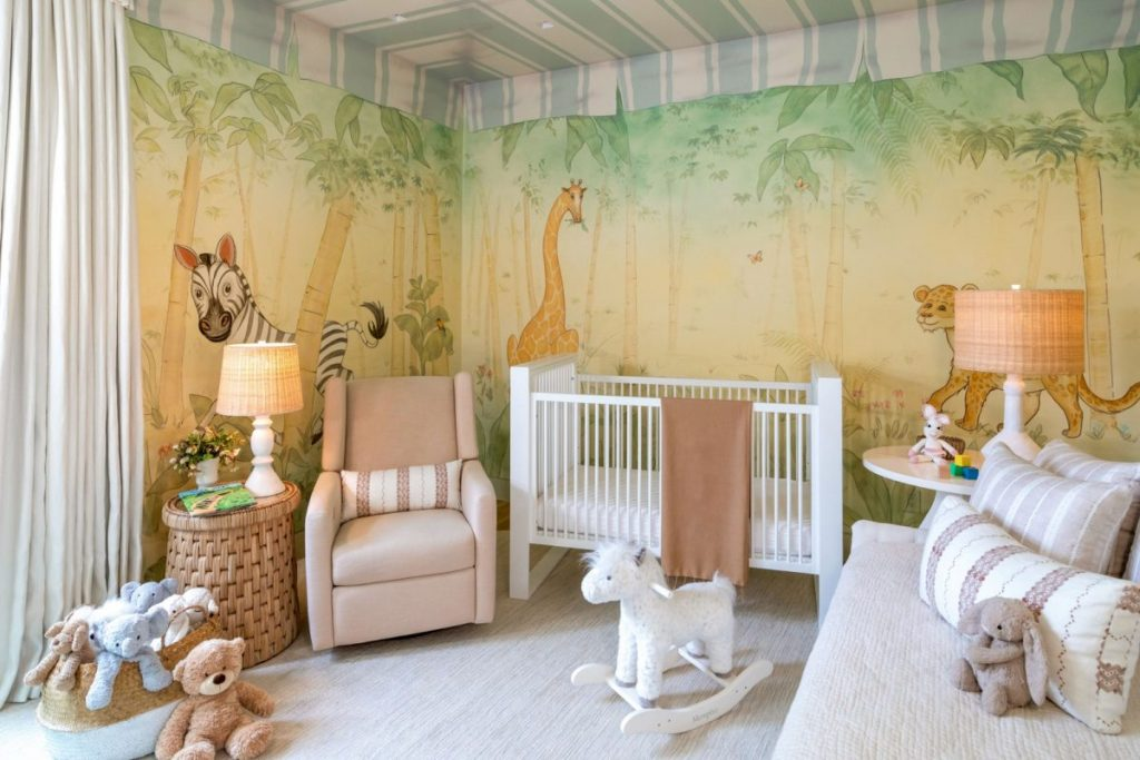 Kids Bedrooms: Tour A whimsical Jungle-Themed Nursery