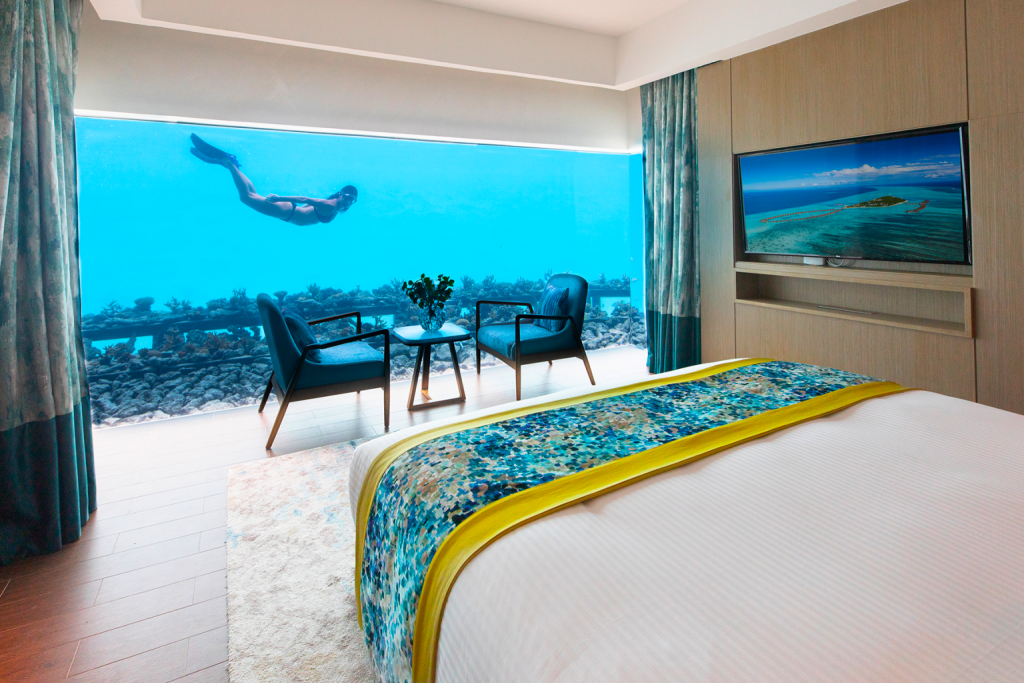 The Ultimate Best New Experience In Maldives - Underwater Luxury Bedroom luxury bedroom The Ultimate Best New Experience In Maldives – Underwater Luxury Bedroom The Ultimate Best New Experience In Maldives Underwater Luxury Bedroom 2 1024x683