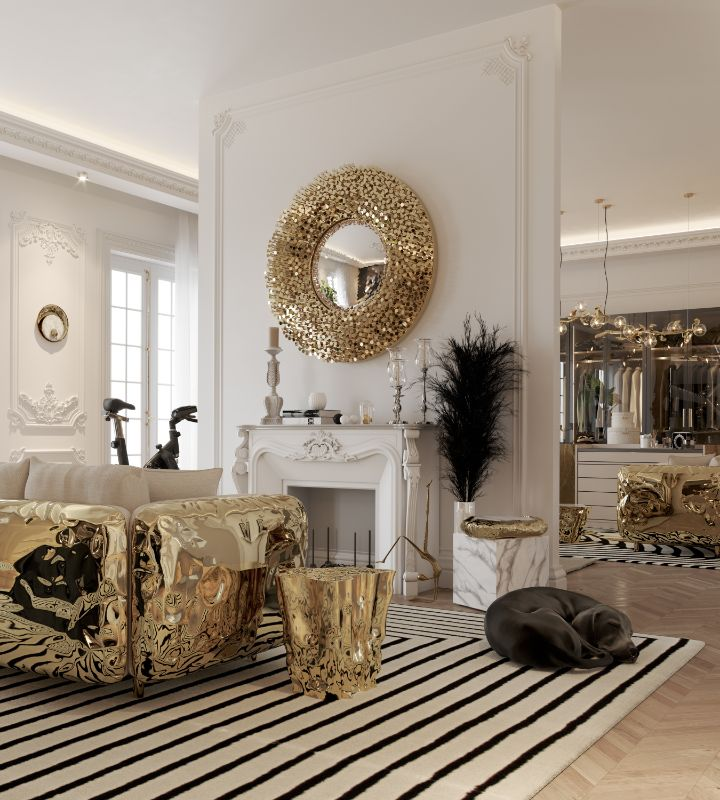Gold Mirrors in Bedrooms - Luxury Ideas For Your Home